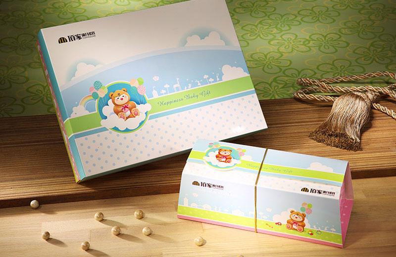 彌月-大熊小熊禮盒及長條蛋糕禮盒